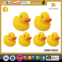 Baby shower toy yellow rubber floating duck
