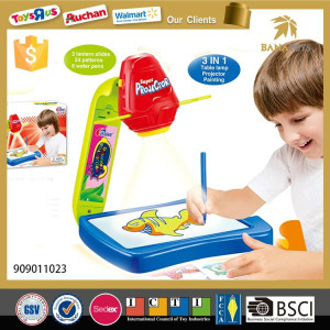 New Design 3 in 1 Drawing Slide Projetctor Toy