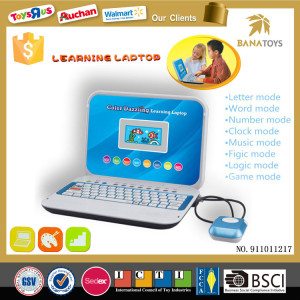 Wholesale educational equipment english learning machine kid computer laptop
