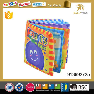 Educational soft toy baby cloth book