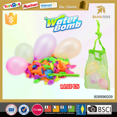 120pcs Rubber water balloon boobs set with filler Banatoys Best item China Colorful water Balloon