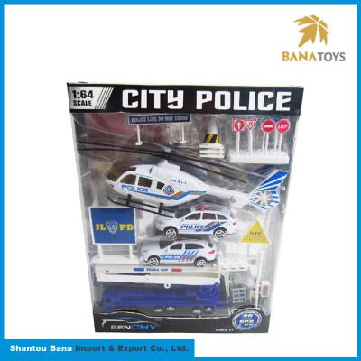 Quality goods Boy police set alloy plastic car toy