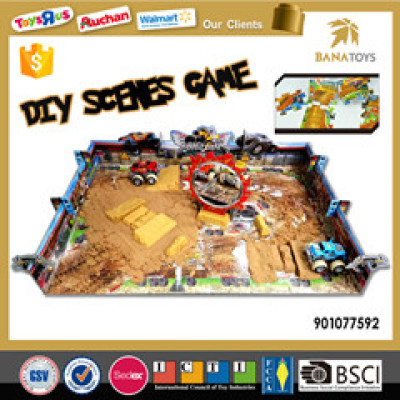 Scene Construction Combine Puzzle Sand Car Boy Toy