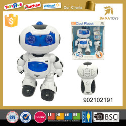 wholesale funny remove control robot toy with light and music boy toy