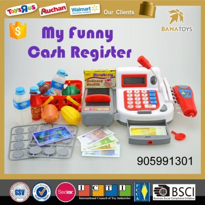 Pink cash register business Pretend Play Toys