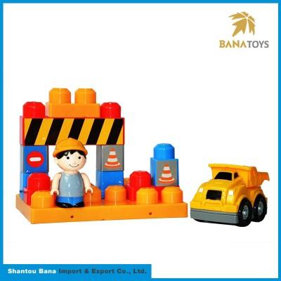project car 12 pieces DIY block boy toy