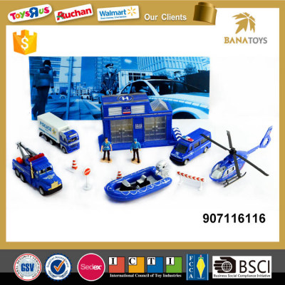 Rescue activity police station toy boy toy