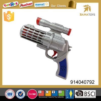 Cool design plastic musical space gun toy with sound