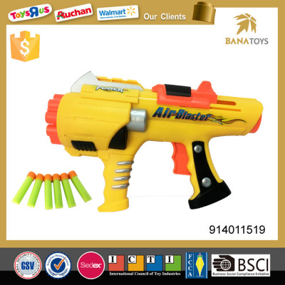 Plastic shooting gun with 12 soft bullets