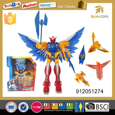 Popular plastic robot toys warrior with accessories