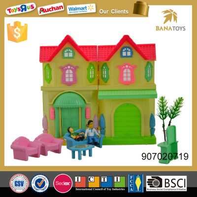 Educational diy miniature house with Furniture Set