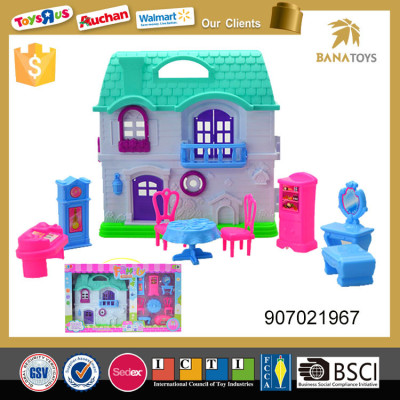 Mini diy house villa model including furniture