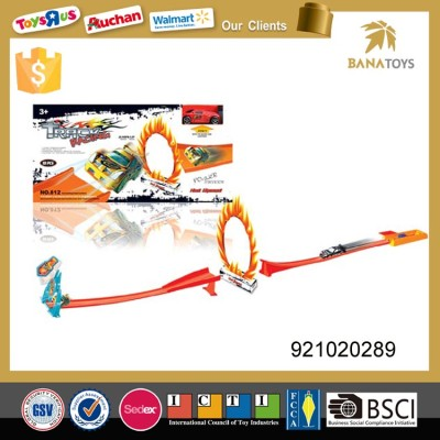 Stunt mini racing car track with light and sound