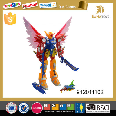 Hot sale plastic robot toy with light and sound