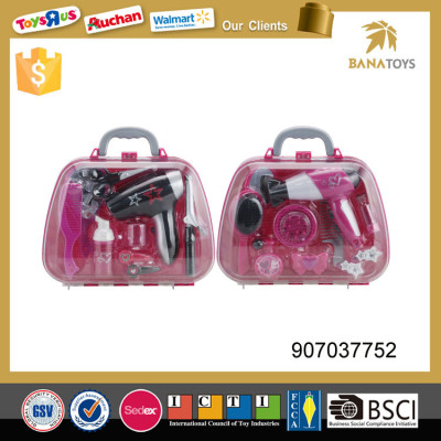 Cute fashion girls beauty play set toys hair styling tools