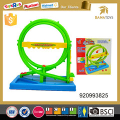 slot toy shooting ball round overturn track toy