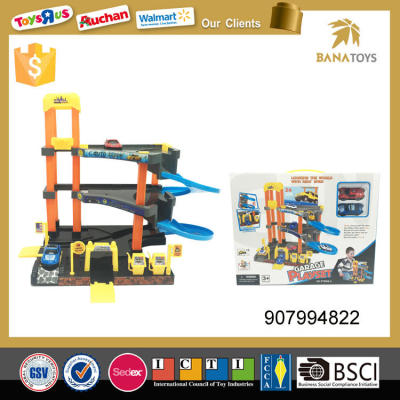 New arrival kid toy car park toy with free wheel car