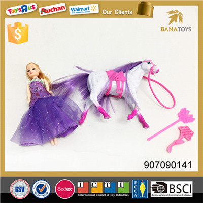 Beautiful horse and princess stable play set