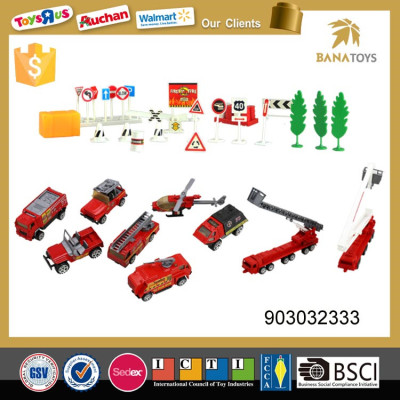 Intellectual fire control play set sliding fire truck