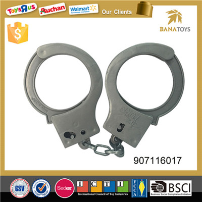 Kids play police equipment toys handcuff