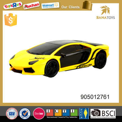 Electric diecast friction model car with 3d light