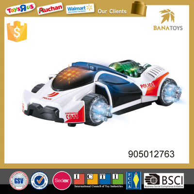 Promotional electric police car toy with 3d light