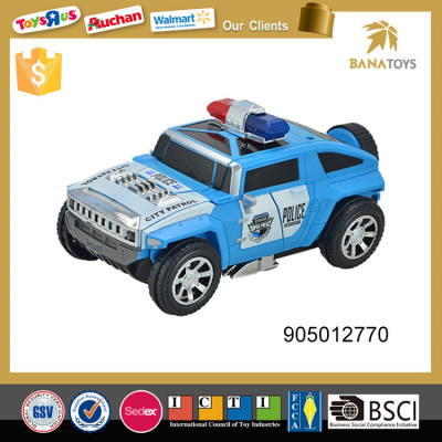 War Tiger style deformation police car toy