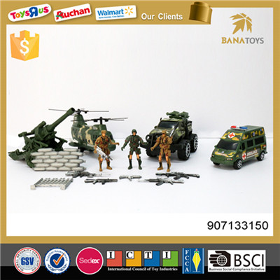 Top quality military toys play set with gun