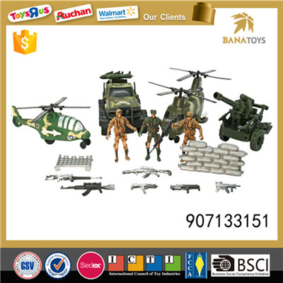Adorable military set toys with cannon and gun