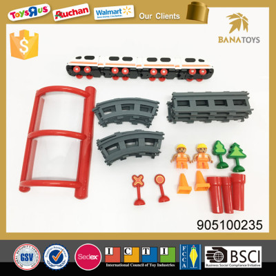 Electric toy train sets with railway track