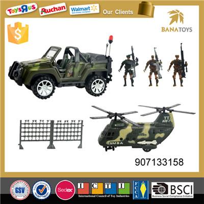Interesting military toys play set with gun
