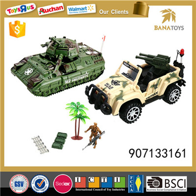 Boys favor military toys play set with gun