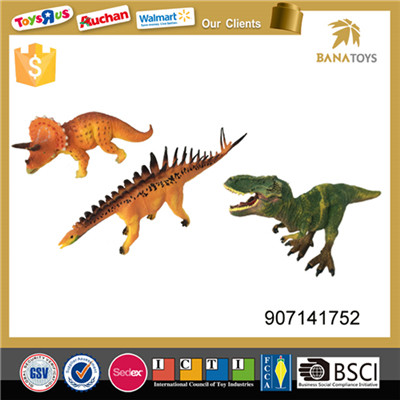 Wholesale 3pcs realistic jurassic park dinosaur model