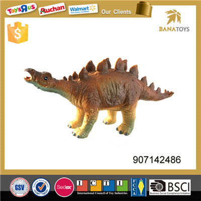 Plastic cotton filling toys Stegosaurus walking dinosaur