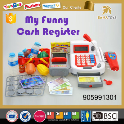 Safety design kids electronic cashier toy with top quality
