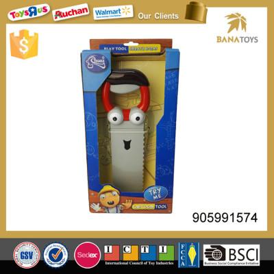 Plastic preschool play toy electric motor saw