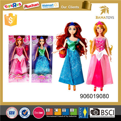 Hot sales kid gift lovely princess doll barbie dress up game for girls