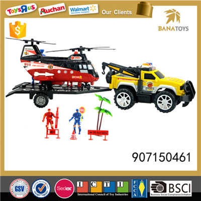 Fire and rescue equipment with policeman and accessories
