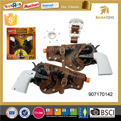 Western lawman playset twin cowboy guns with holster
