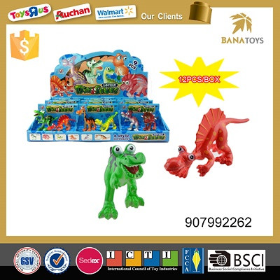 Funny wild animal model walking dinosaur