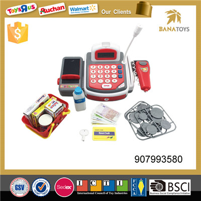 Hot selling toy store plastic cash register toy kids cashier toy