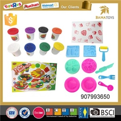 Children play dough biscuits color clay