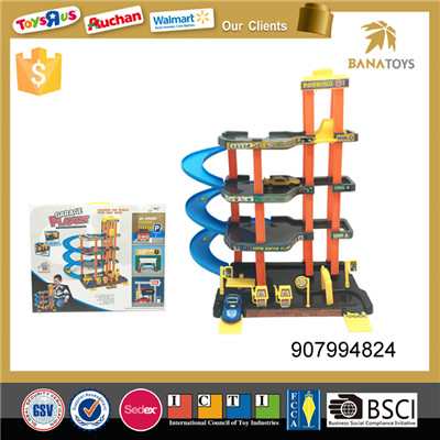 Funny kid toy car park toy with free wheel car