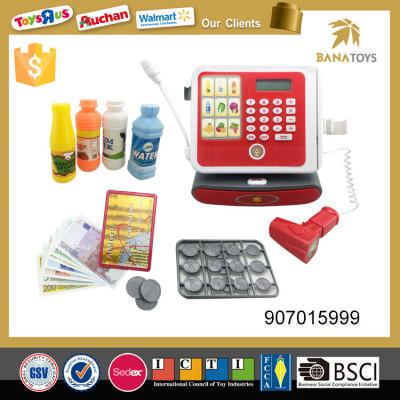 High quality supermarket cash register supermarket cashier desk toy