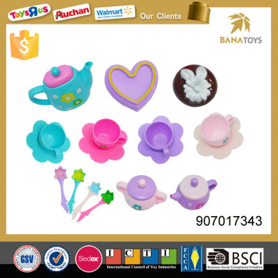 17pcs kitchen set toy kids plastic teapot and cups