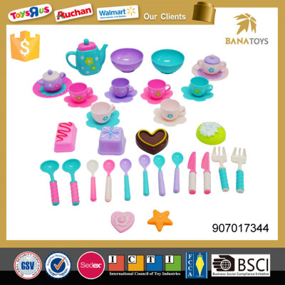 Mini plastic tea pot and cups kids tea set