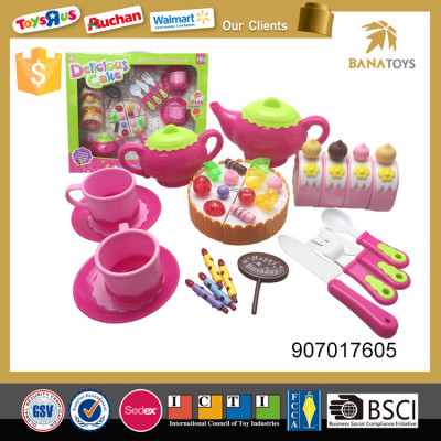Kids party kitchen playset birthday cake model