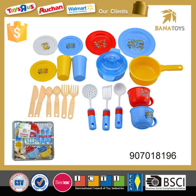 Low price plastic tableware toy cooking set