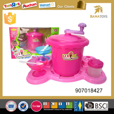 Pretend play toys mini ice cream maker machine