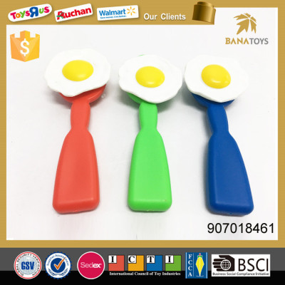 Pretend play cooking race game plastic spoon and egg